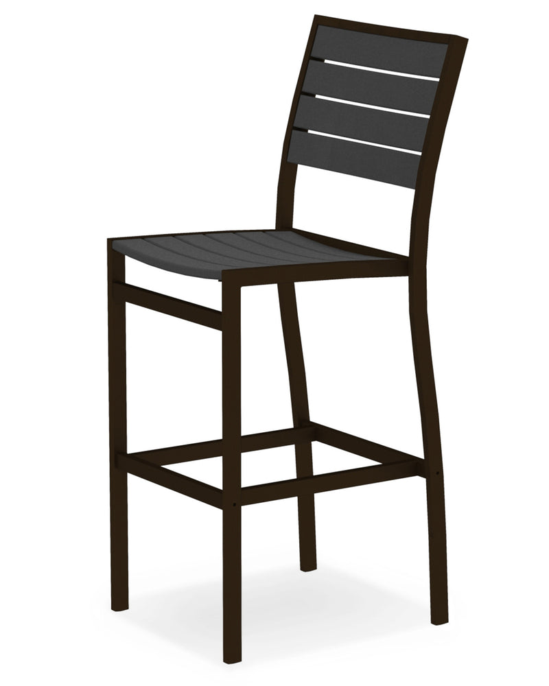 A102-16GY Euro Bar Side Chair in Textured Bronze and Slate Grey