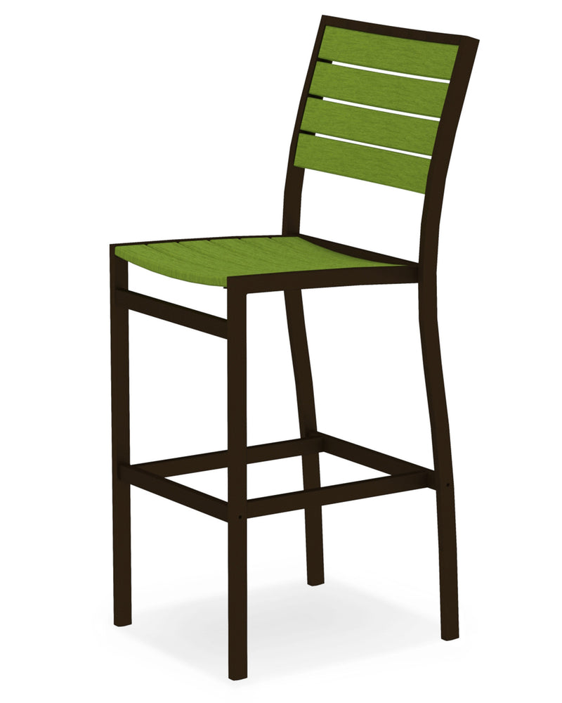 A102-16LI Euro Bar Side Chair in Textured Bronze and Lime