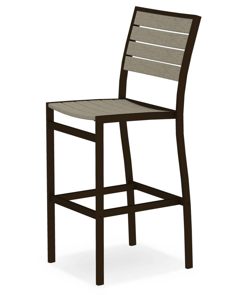 A102-16SA Euro Bar Side Chair in Textured Bronze and Sand