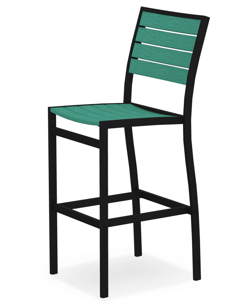 A102FABAR Euro Bar Side Chair in Textured Black and Aruba