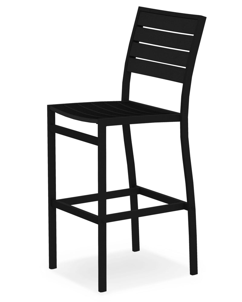 A102FABBL Euro Bar Side Chair in Textured Black and Black