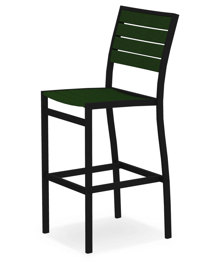 A102FABGR Euro Bar Side Chair in Textured Black and Green