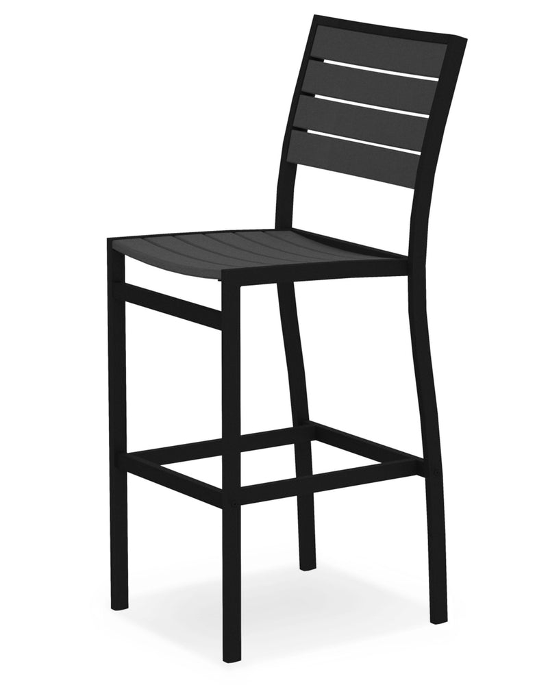 A102FABGY Euro Bar Side Chair in Textured Black and Slate Grey