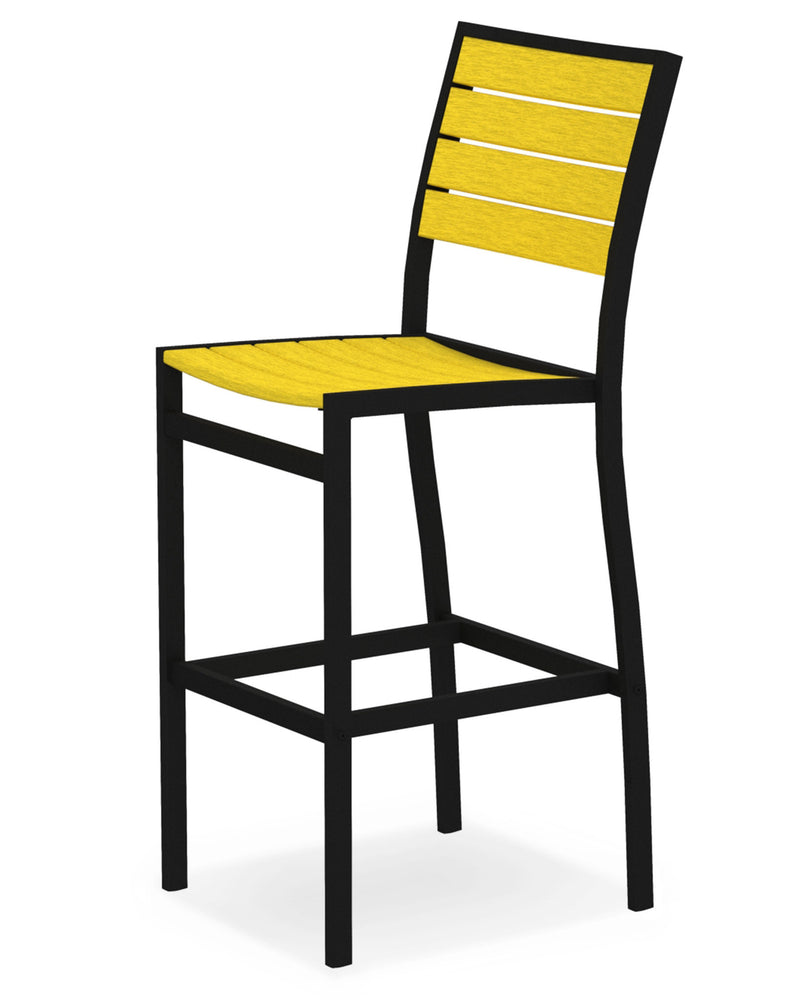 A102FABLE Euro Bar Side Chair in Textured Black and Lemon