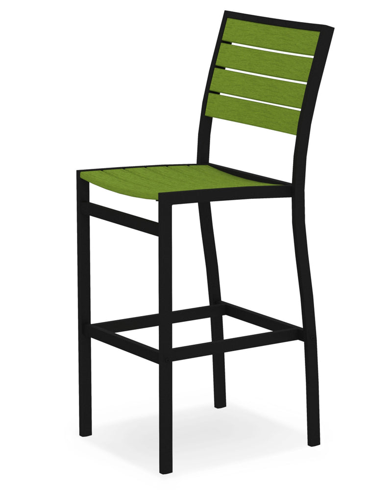 A102FABLI Euro Bar Side Chair in Textured Black and Lime