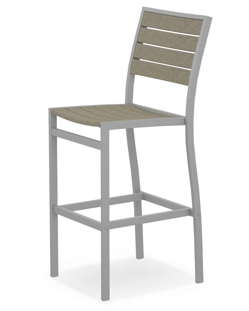 A102FASSA Euro Bar Side Chair in Textured Silver and Sand
