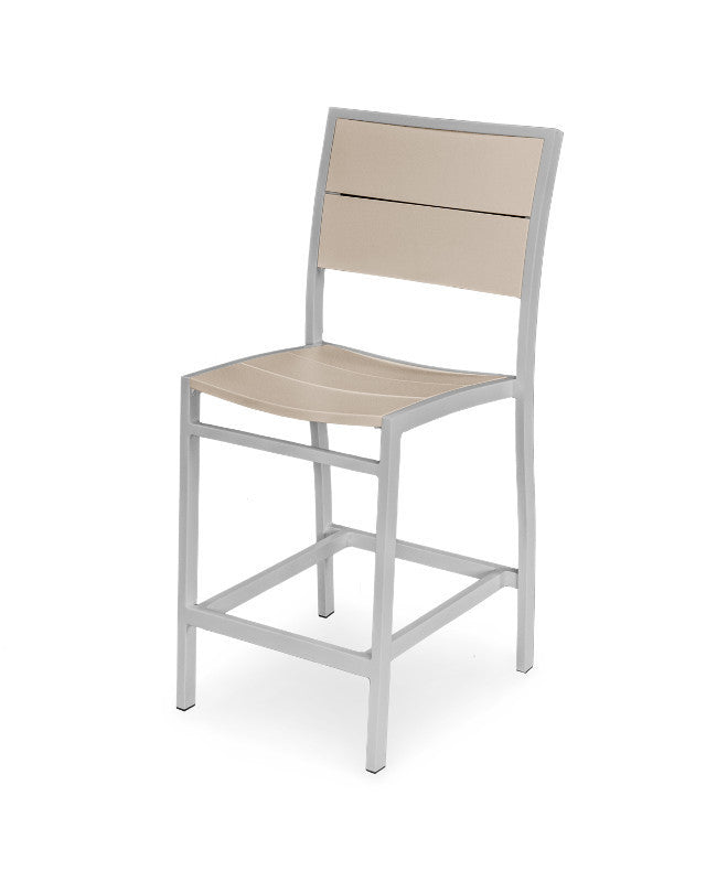 A121-11MSA Metro Counter Side Chair in Textured Silver and Sand