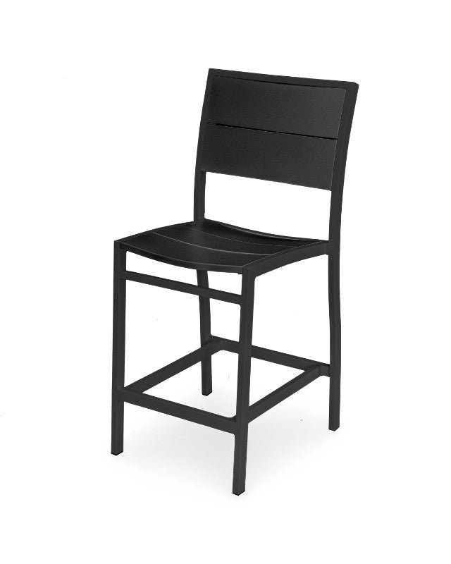 A121-12MBL Metro Counter Side Chair in Textured Black and Black