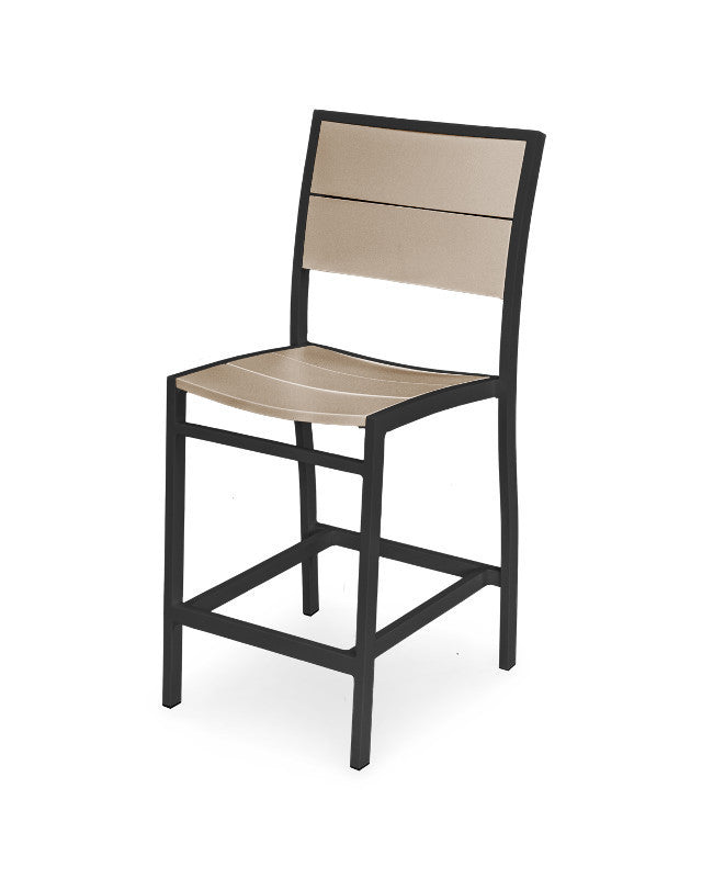 A121-12MSA Metro Counter Side Chair in Textured Black and Sand