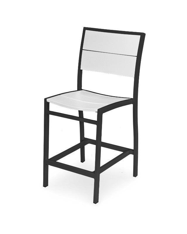 A121-12MWH Metro Counter Side Chair in Textured Black and White