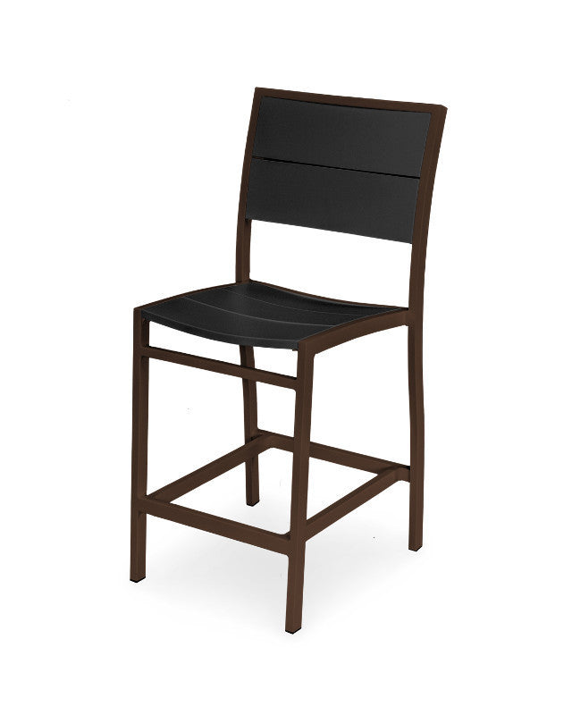 A121-16MBL Metro Counter Side Chair in Textured Bronze and Black