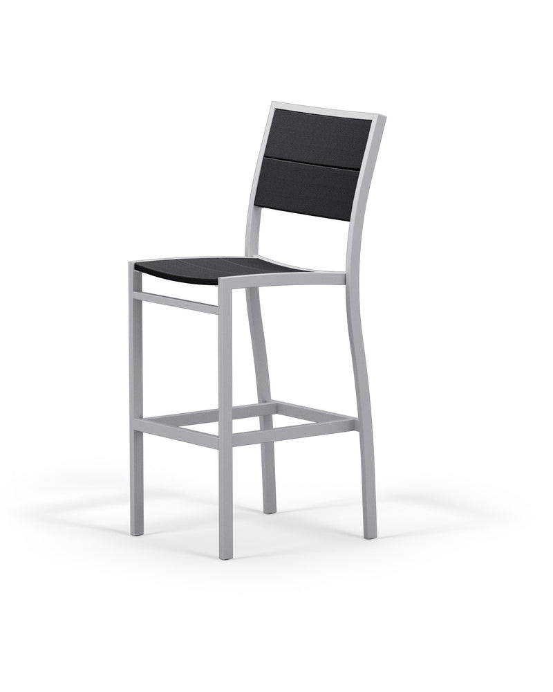 A122-11MBL Metro Bar Side Chair in Textured Silver and Black