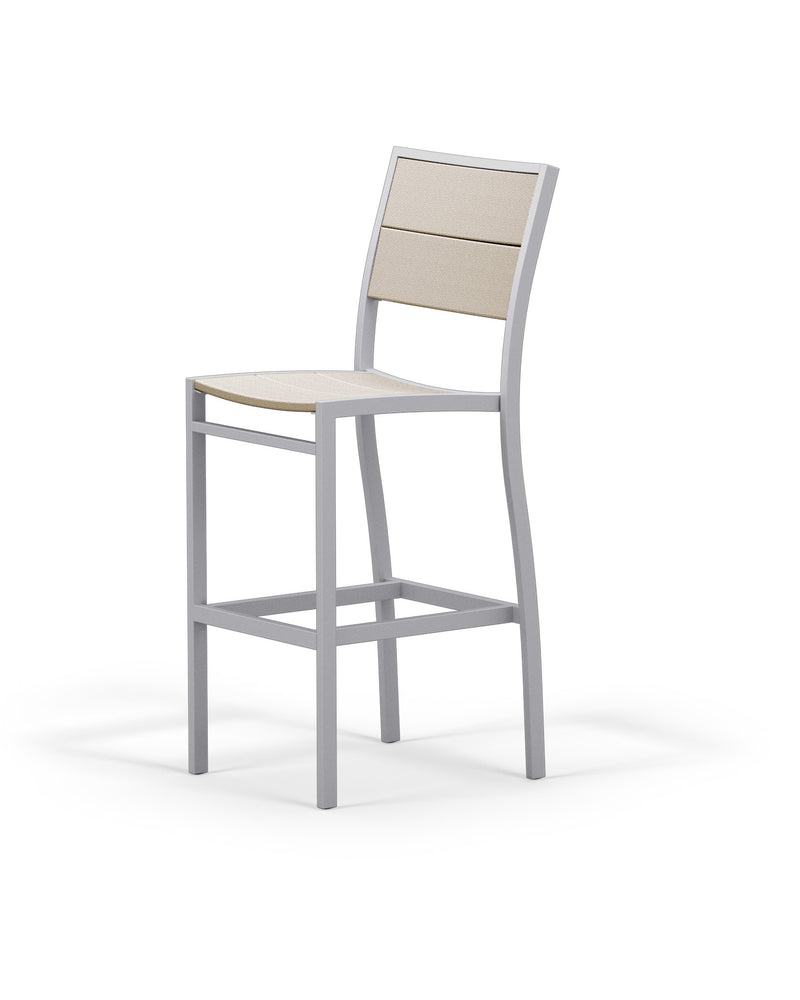 A122-11MSA Metro Bar Side Chair in Textured Silver and Sand