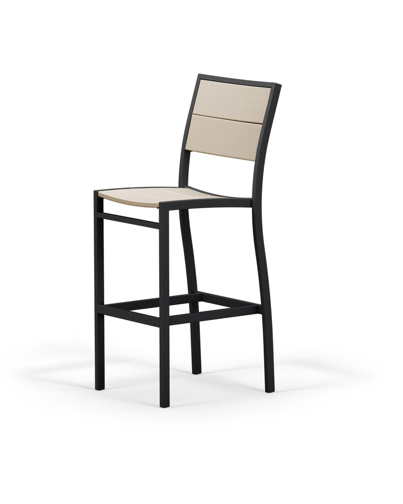 A122-12MSA Metro Bar Side Chair in Textured Black and Sand