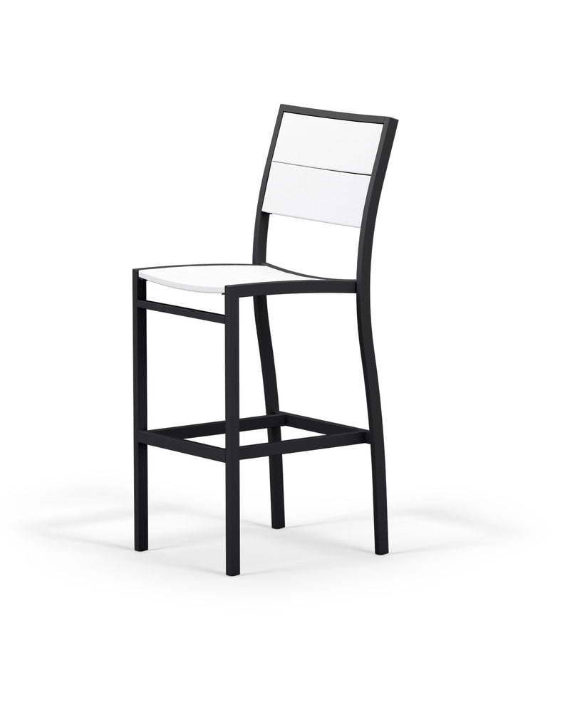 A122-12MWH Metro Bar Side Chair in Textured Black and White