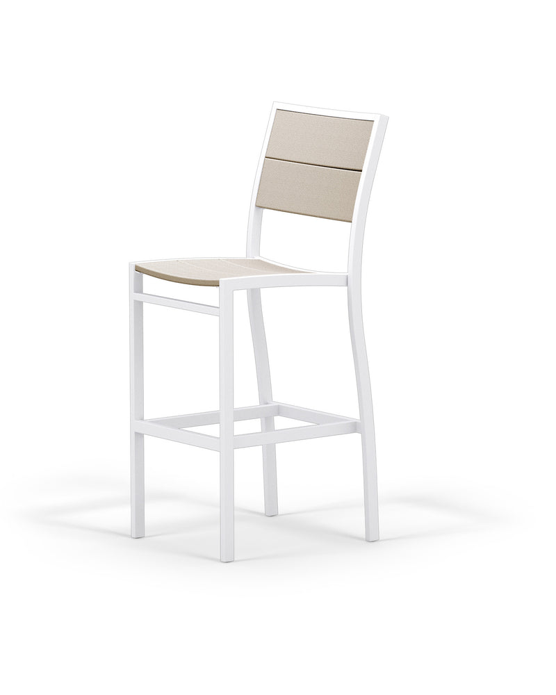 A122-13MSA Metro Bar Side Chair in Satin White and Sand
