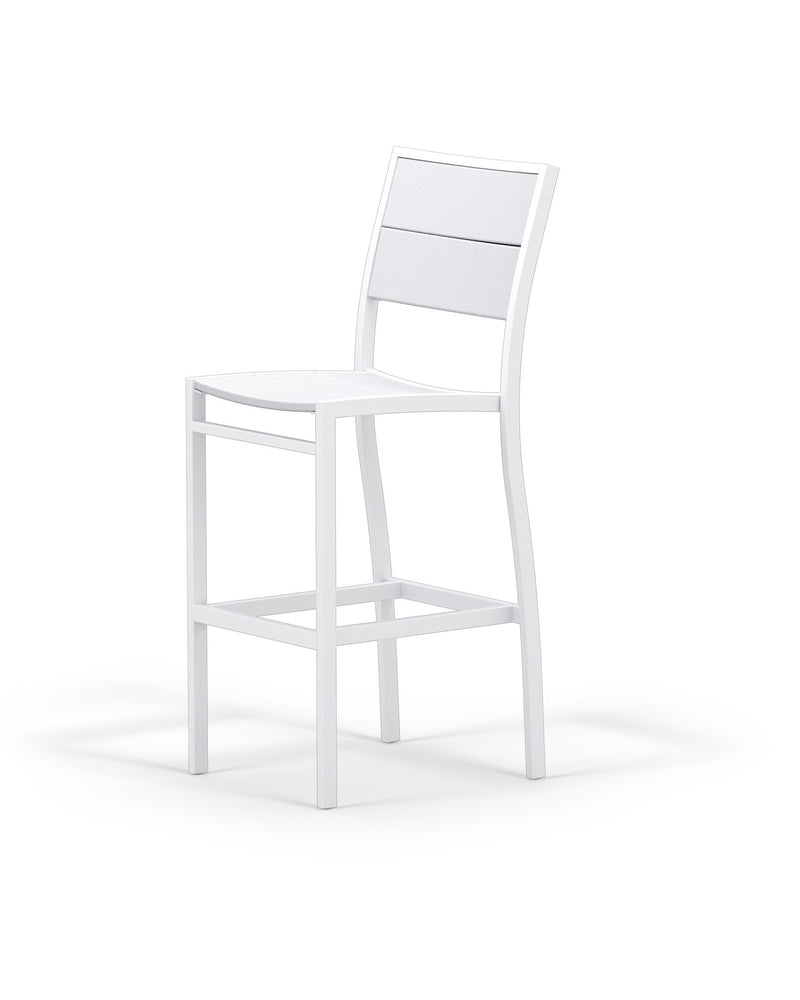 A122-13MWH Metro Bar Side Chair in Satin White and White