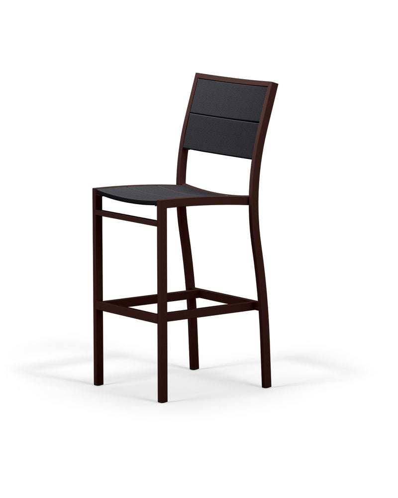 A122-16MBL Metro Bar Side Chair in Textured Bronze and Black
