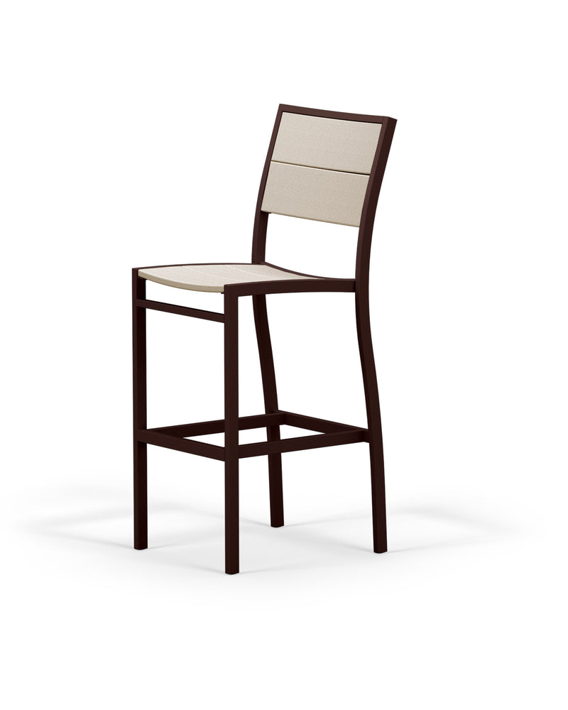 A122-16MSA Metro Bar Side Chair in Textured Bronze and Sand