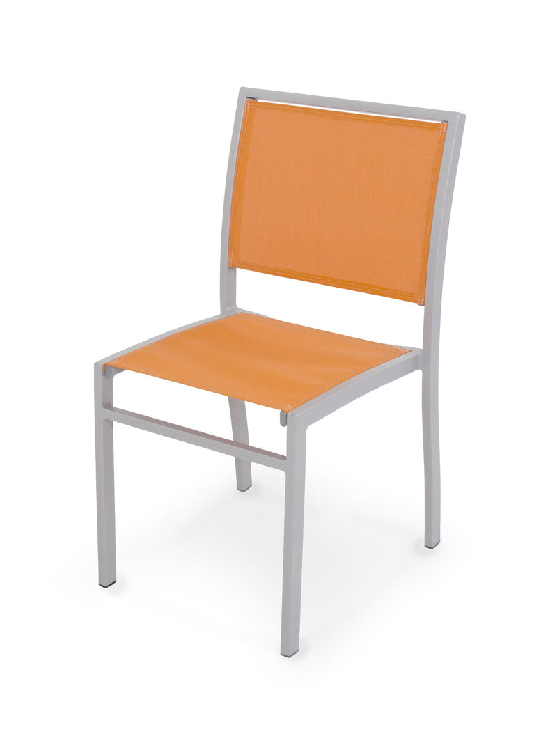 A190-11906 Bayline Dining Side Chair in Textured Silver with a Citrus Sling