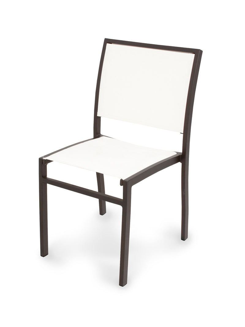A190-16901 Bayline Dining Side Chair in Textured Bronze with a White Sling