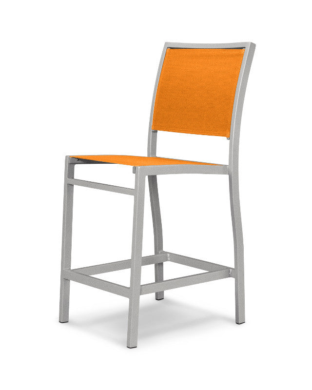 A191-11906 Bayline Counter Side Chair in Textured Silver with a Citrus Sling