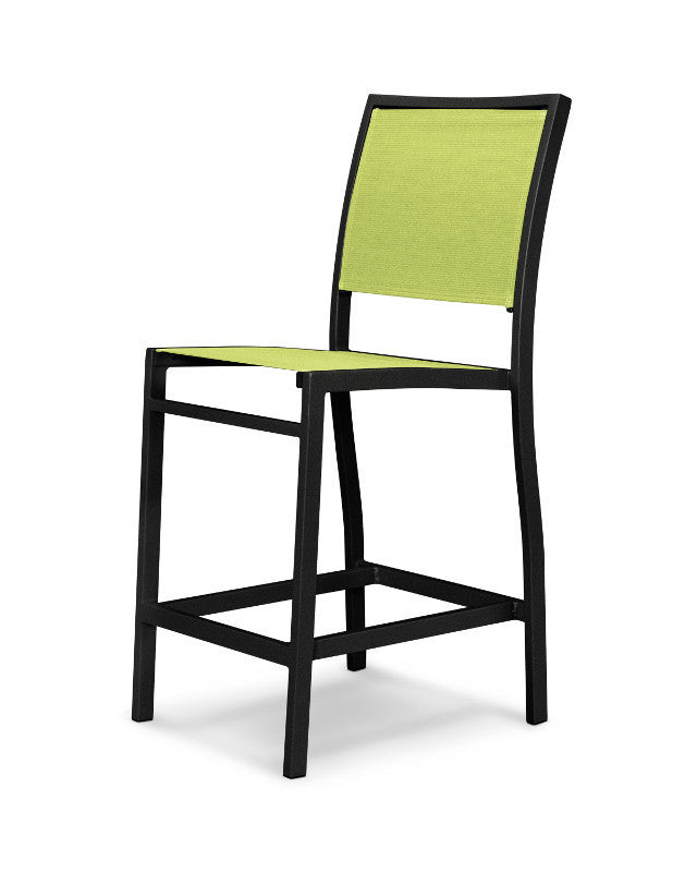A191-12904 Bayline Counter Side Chair in Textured Black with an Avocado Sling