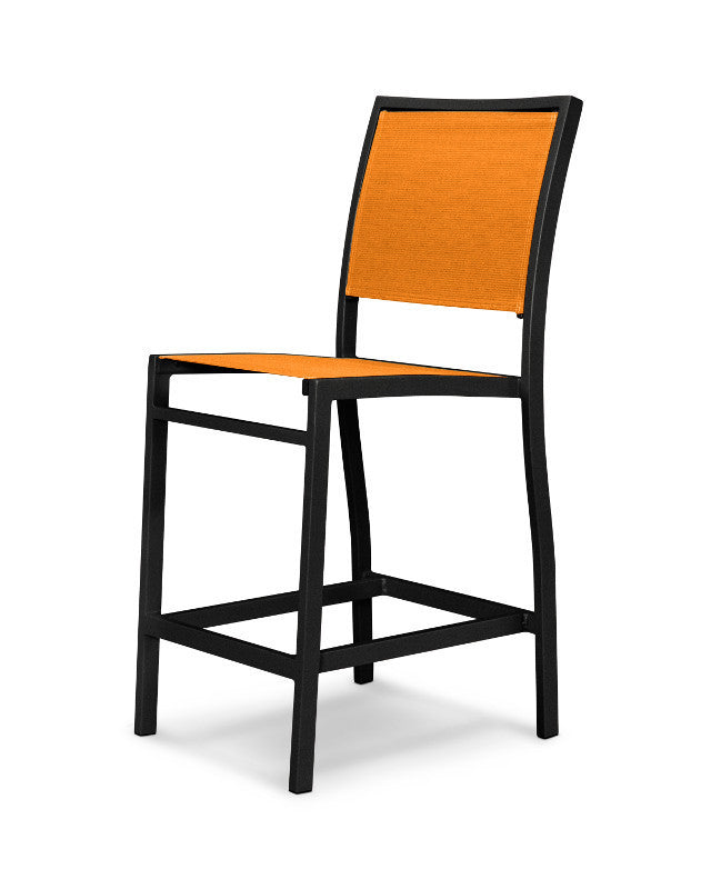 A191-12906 Bayline Counter Side Chair in Textured Black with a Citrus Sling
