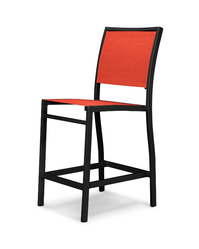 A191-12907 Bayline Counter Side Chair in Textured Black with a Salsa Sling