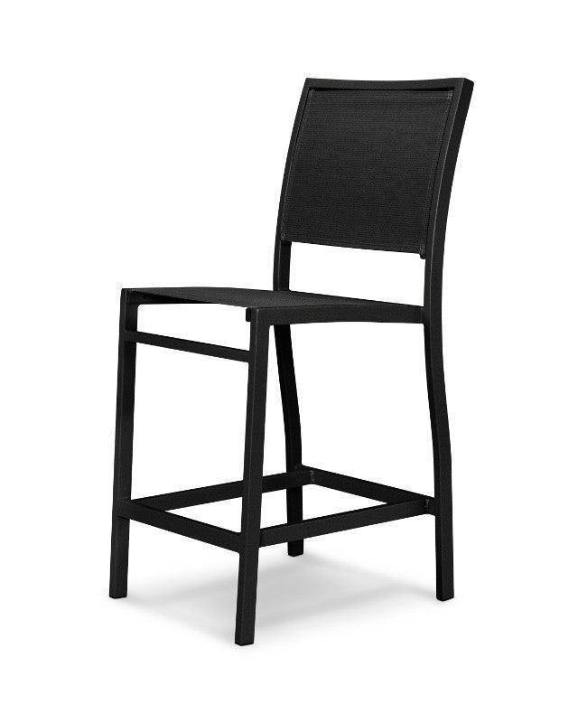 A191-12908 Bayline Counter Side Chair in Textured Black with a Black Sling