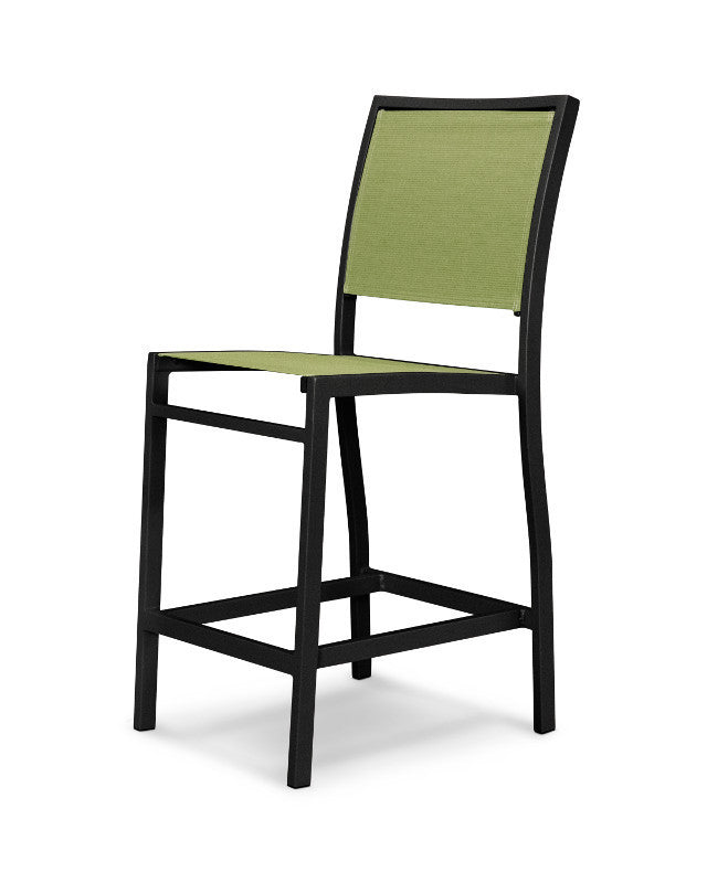 A191-12911 Bayline Counter Side Chair in Textured Black with a Kiwi Sling