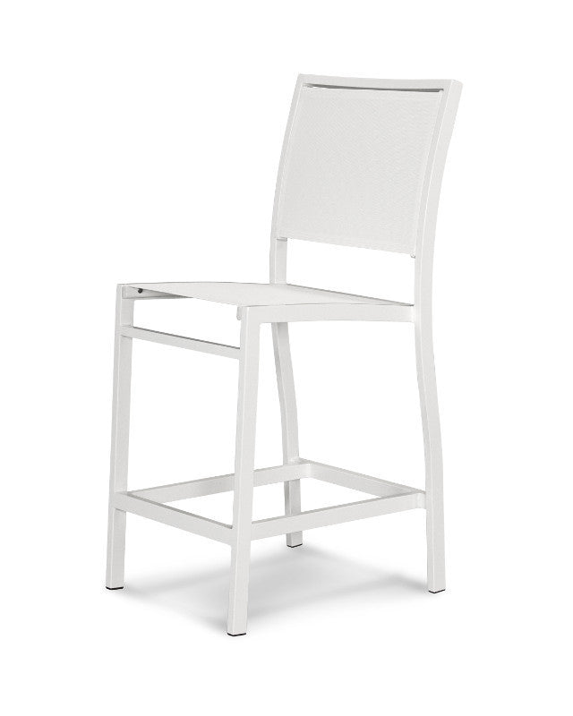 A191-13901 Bayline Counter Side Chair in Satin White with a White Sling