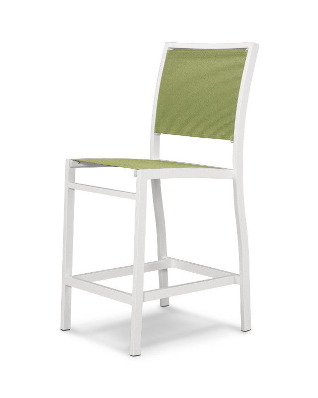 A191-13911 Bayline Counter Side Chair in Satin White with a Kiwi Sling