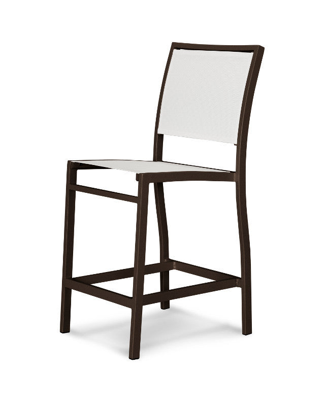 A191-16901 Bayline Counter Side Chair in Textured Bronze with a White Sling