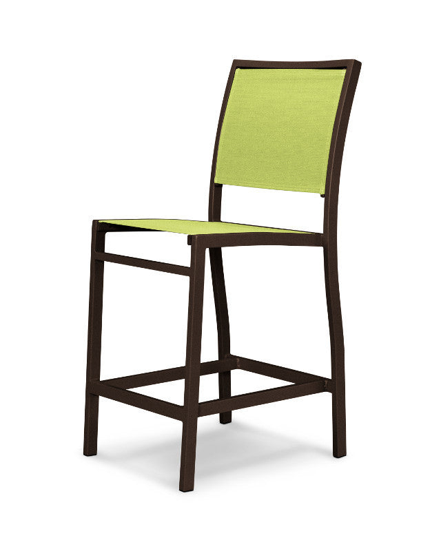 A191-16904 Bayline Counter Side Chair in Textured Bronze with an Avocado Sling