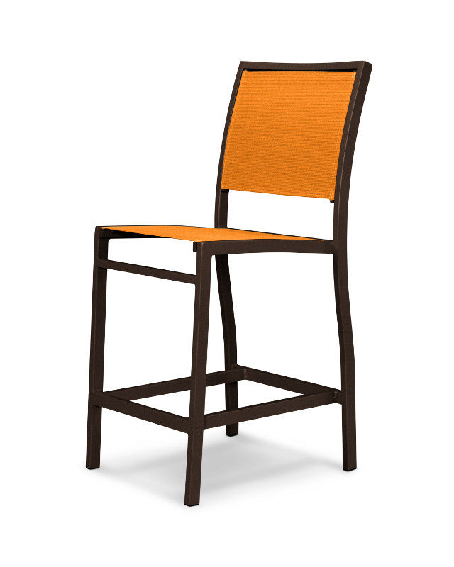 A191-16906 Bayline Counter Side Chair in Textured Bronze with a Citrus Sling