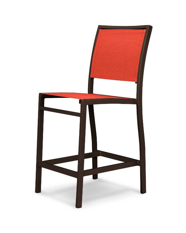 A191-16907 Bayline Counter Side Chair in Textured Bronze with a Salsa Sling