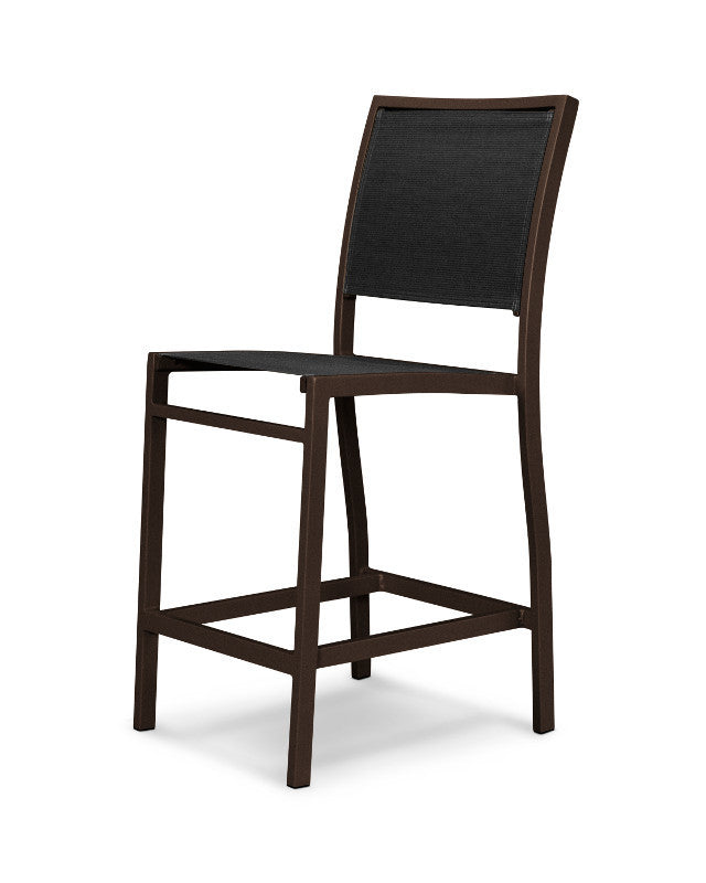 A191-16908 Bayline Counter Side Chair in Textured Bronze with a Black Sling