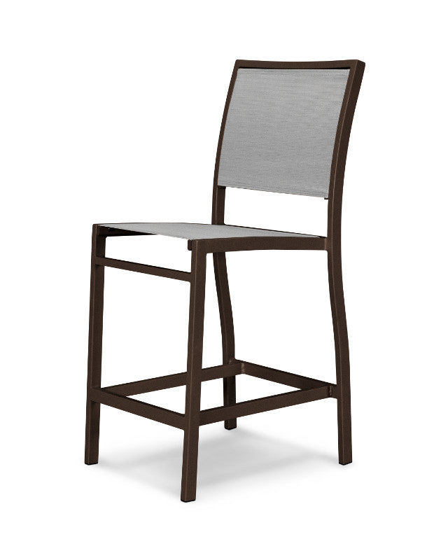 A191-16909 Bayline Counter Side Chair in Textured Bronze with a Metallic Sling
