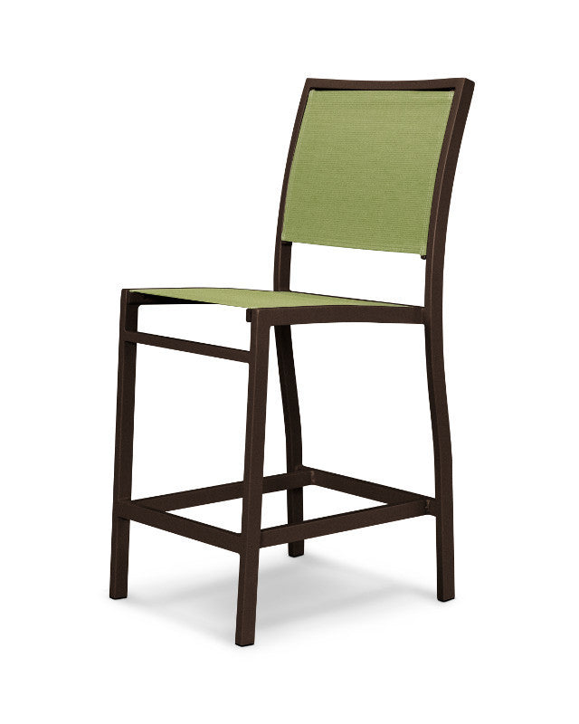 A191-16911 Bayline Counter Side Chair in Textured Bronze with a Kiwi Sling