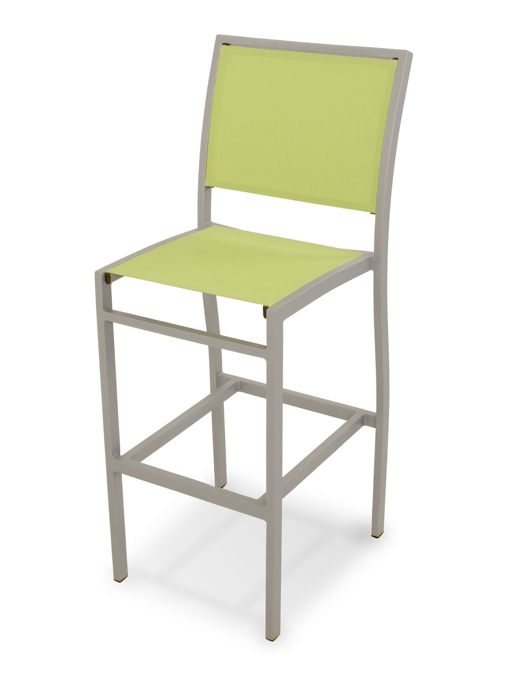 A192-11904 Bayline Bar Side Chair in Textured Silver with an Avocado Sling