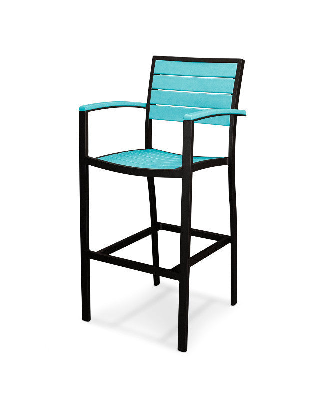 A202FABAR Euro Bar Arm Chair in Textured Black and Aruba