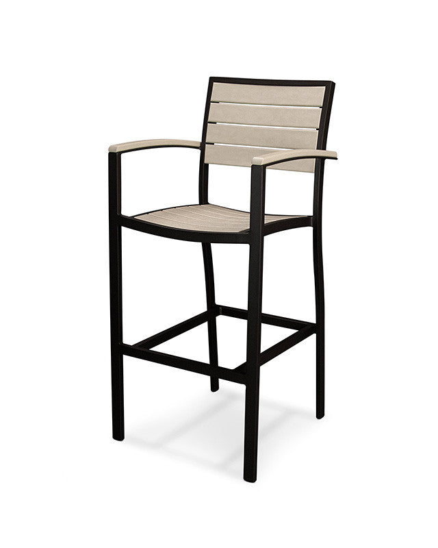 A202FABSA Euro Bar Arm Chair in Textured Black and Sand