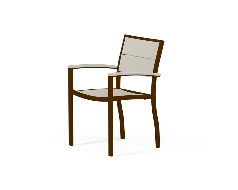 A220-16MSA Metro Dining Arm Chair in Textured Bronze and Sand