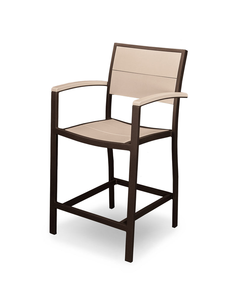 A221-16MSA Metro Counter Arm Chair in Textured Bronze and Sand