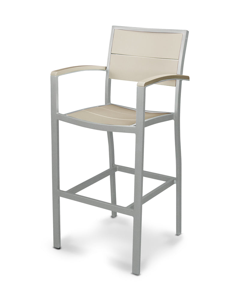 A222-11MSA Metro Bar Arm Chair in Textured Silver and Sand