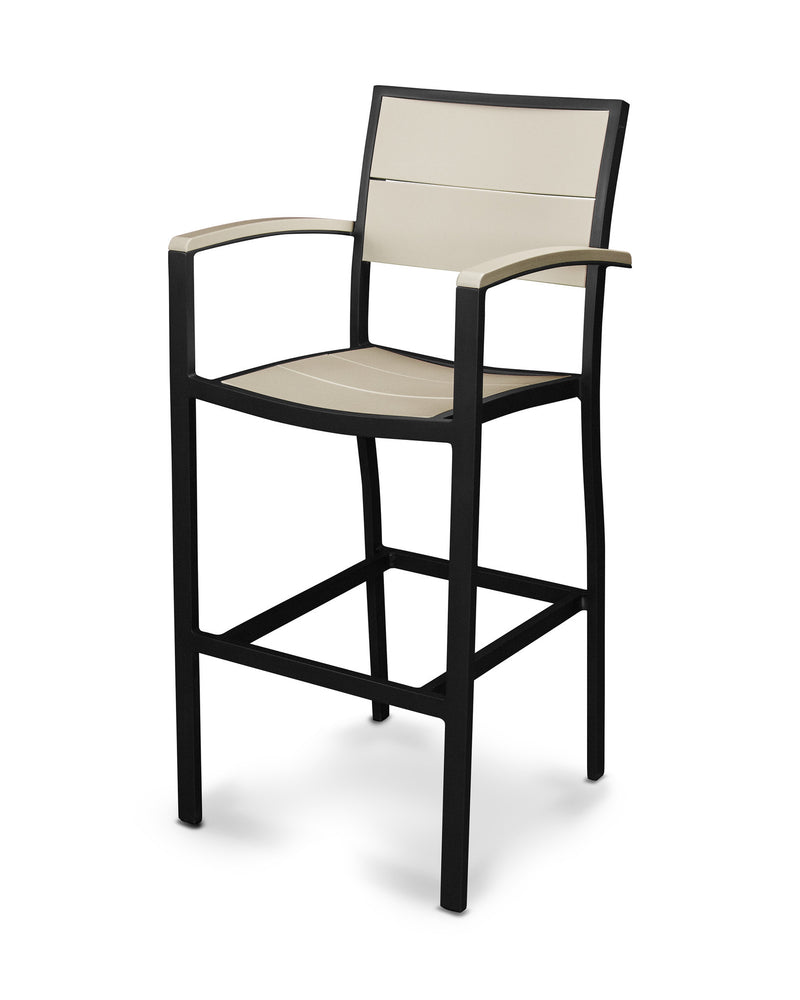 A222-12MSA Metro Bar Arm Chair in Textured Black and Sand