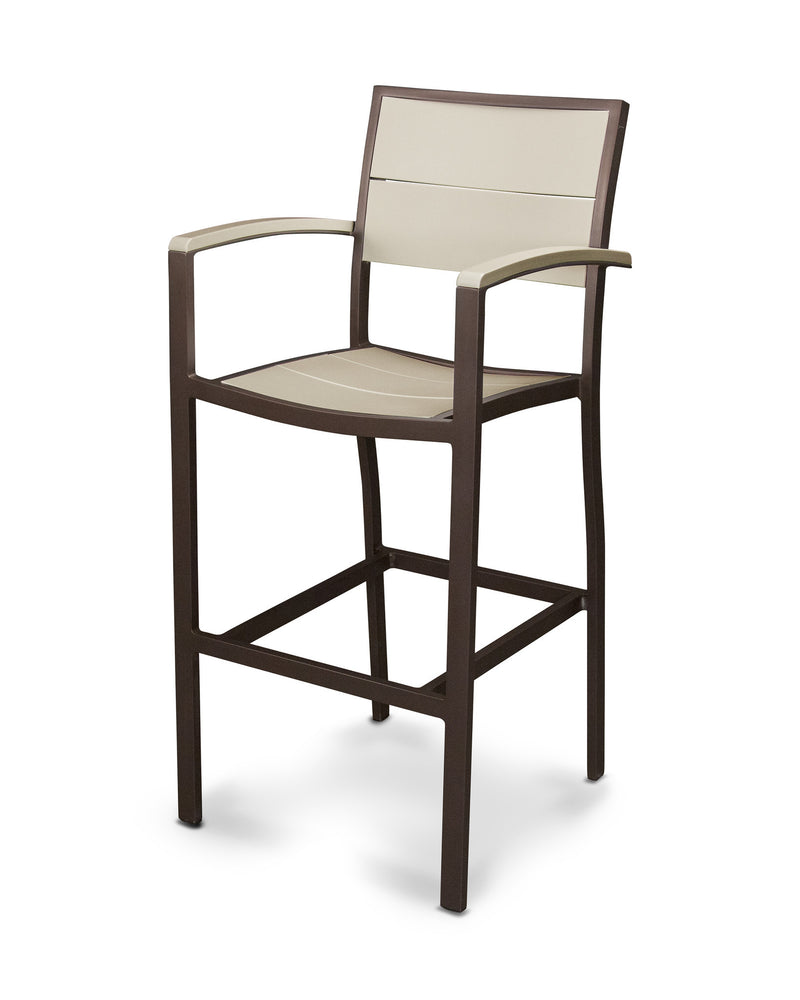 A222-16MSA Metro Bar Arm Chair in Textured Bronze and Sand