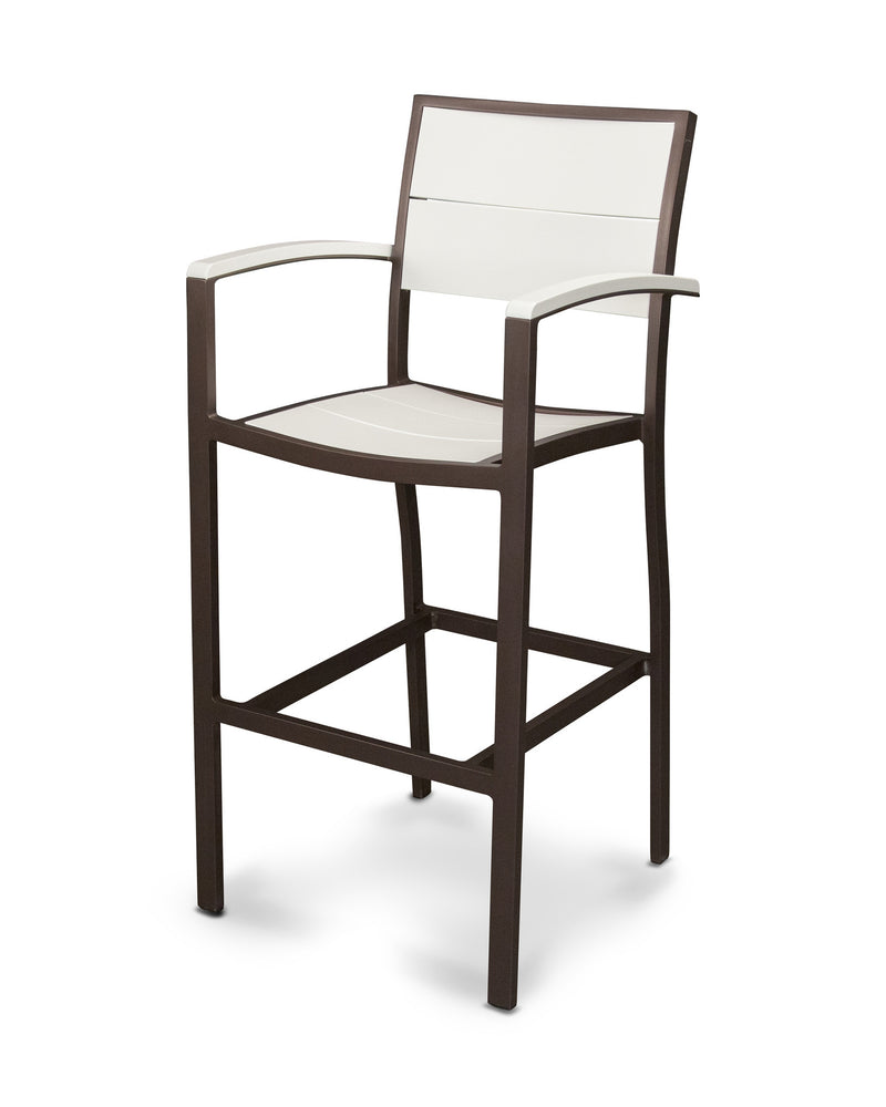 A222-16MWH Metro Bar Arm Chair in Textured Bronze and White