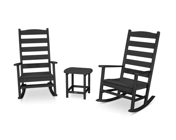 Shaker 3 Piece Porch Rocking Chair Set